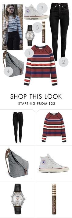 """Halloween*2 (Nancy from stranger things)"" by dechhale-1 ❤ liked on Polyvore featuring Tory Burch, Converse, Citizen, Too Faced Cosmetics, halloweencostume and DIYHalloween"