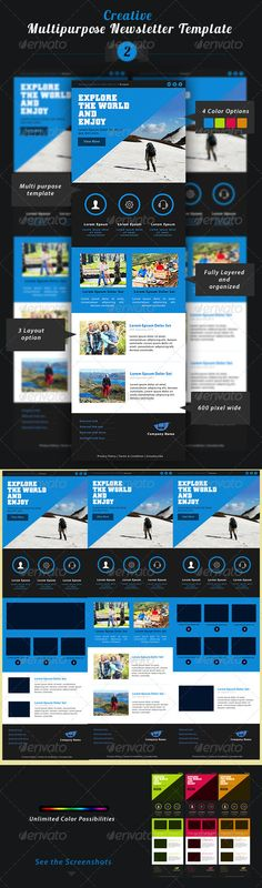 Creative Multipurpose Newsletter PSD Template 2 #GraphicRiver Introduction