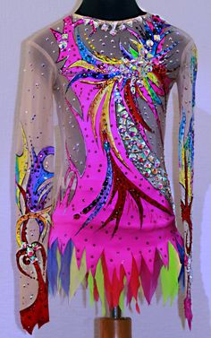Rhythmic gymnastics leotard от AtelieFenix на Etsy