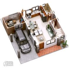 Havana is a two storey house with 3 bedrooms with usable floor area of 134 square meters. Note that the area of the terraces are not included, for purposes Two Storey House Plans, 3d House Plans, Model House Plan, Duplex House Plans, House Layout Plans, Bedroom House Plans, Small House Plans, House Layouts, 3 Storey House Design