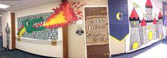 Sir Readalot Book Fair library display at Clegern Elementary