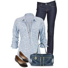 Denim and Denim by daiscat on Polyvore featuring maurices, Levi's, DKNY and Miss Selfridge