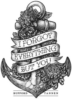 Tattoo inspiration... I forgot everything but you by Yeaaah! Studio