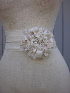 Bridal  belt, Bridal sash , Wedding dress belt, Wedding accessories, Flower sash, wedding sash belt, Bridal accessories, Unique wedding by denizy03 on Etsy https://www.etsy.com/listing/130315837/bridal-belt-bridal-sash-wedding-dress