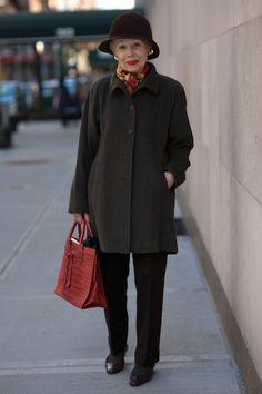 ■ ADVANCED STYLE... Mrs. Rock on Madison Avenue