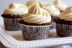 Guinness Cupcakes with Bailey's Irish Cream Frosting