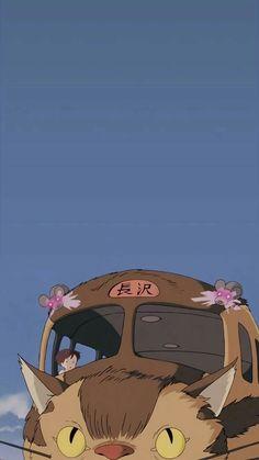 Studio ghibli,my neighbor totoro,hayao miyazaki - Studio Ghibli - Wallpaper Studio Ghibli Wallpaper, Studio Ghibli Background, Cat Background, Background Images, Studio Ghibli Films, Art Studio Ghibli, Studio Ghibli Quotes, Cat Wallpaper, Wallpaper Backgrounds