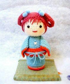 Amigurumi  Pattern Kokeshi Doll