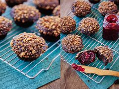 Dark Chocolate Muffins with Cinnamon Streusel