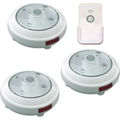 Rite Lite 5-LED Puck Light with Remote, 3-Pack, White - Walmart.com