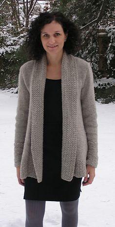 Ravelry: London Bridges Cardigan pattern by Nancy Eiseman knit in Cascade Yarns Ecological Wool® Knit Cardigan Pattern, Sweater Knitting Patterns, Knit Patterns, Sweater Cardigan, Vogue Knitting, Pulls, Knitwear, Knit Crochet, Sweaters For Women