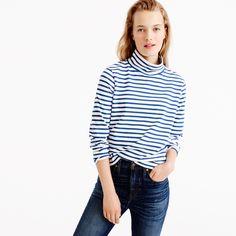 Sailor-stripe funnelneck T-shirt : T-SHIRTS & TANK TOPS | J.Crew
