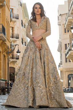 For custom made bridal lehenga queries : Email : nivetasfashion Nivetas Design Studio Haute spot for Indian Outfits. Indian fashion meets b Designer Bridal Lehenga, Indian Bridal Lehenga, Indian Bridal Outfits, Indian Fashion Dresses, Pakistani Bridal Dresses, Gold Lehenga Bridal, Indian Bridal Wear, Lehenga Designs, Indian Attire