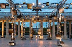 Isabel Marant, Paris Fashion Week by Bureau Betak Stage Lighting Design, Kitchen Lighting Design, Stage Set Design, Church Stage Design, Lighting Concepts, Event Lighting, Bühnen Design, Event Design, Isabel Marant