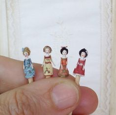 Mini Doll Queen Anne 1:12 scale. 12mm high...LOVE this man's work. What a talent. Those are so adorable.