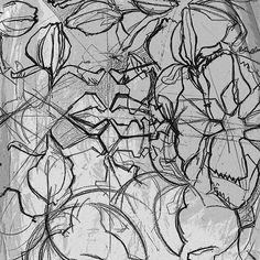 "BLACK AND WHITE ""Floral sketch"""