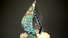Jack Storms「フィボナッチ比率2」 フィボナッチ比率を利用したガラス作品。