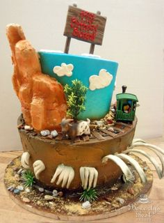 Big Thunder Mountain Birthday Cake by Beverly's Best Bakery