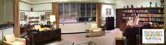 A panorama of Walt Disney's office in the Disney Treasures exhibit at the Ronald Reagan Library.