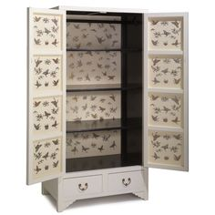 Chinese Ivory Lacquer Wardrobe with Butterfly Interior #ShimuSale
