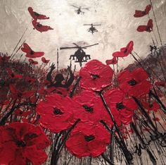 War Poppy Remembrance Soldier Original Painting Expressionism Impressionism Textured Impasto Art on Canvas Signed by Jacqueline Hurley Ww1 Art, Remembrance Day Poppy, Original Art, Original Paintings, Political Art, Gcse Art, Hiroshima, Military Art, Art Plastique