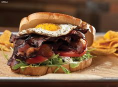 monster sandwiches with artisan ingredients, like this towering BLT ...