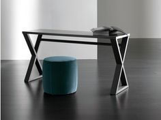 Rectangular wood veneer console table CRUIS | Console table - Meridiani