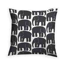 Elefantti Pudebetræk 48x48cm, Sort
