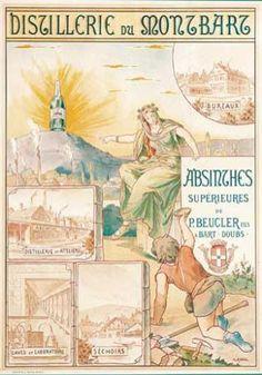 Affiches sur l'Absinthe: Musee Virtuel de l'Absinthe - Le Monde des Antiquites d'Absinthe