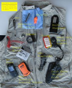 Survival Vest Contents - Do You Need to Know Exactly What the Best Survival Equipment Is? Click Here to Find Out http://www.selfdefensegearco.com/survival-gear.php