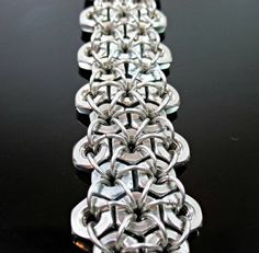 Men's hex nut bracelet https://www.etsy.com/listing/219099186/mens-hex-nut-bracelet-chainmail-jewelry