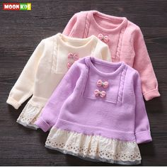 Aliexpress.com : Buy free shipping 2015 autumn female child pullover sweater, baby girls sweet fresh sweater,Bow lace wool component  coat from Reliable sweater dryer suppliers on Moon Kids    Alibaba Group
