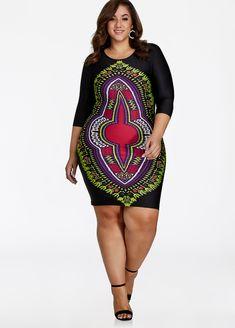 Printed Sheath Dress - Ashley Stewart