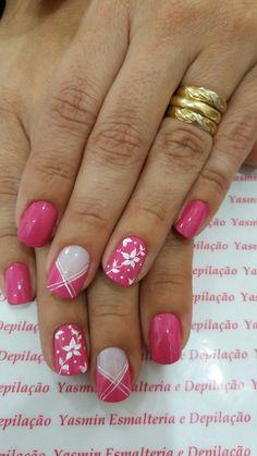 Rosa com Flores Branca