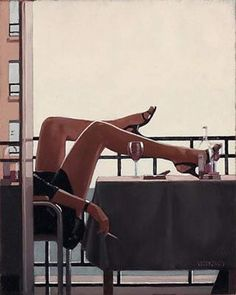 Temptress, by Jack Vettriano Aesthetic Photo, Aesthetic Art, Jack Vettriano, Foto Gif, Pulp Art, Photo Instagram, Erotic Art, Sexy Legs, Female Art