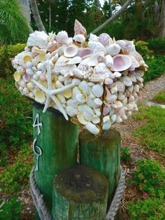 Shell Mosaic Mailboxes