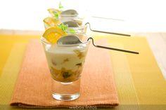 Receta de yogur y frutas de webos fritos, por solo 5 minutos de relajante esfuerzo lleno de cariño, vale la pena!