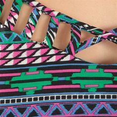 Top à bretelles imprimé aztèque multicolore #Aztec #Navajo #Pimkie