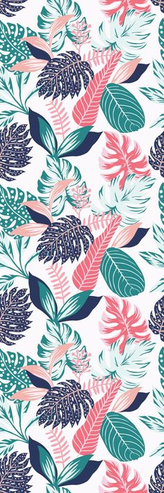 Removable Wallpaper Mural Peel & Stick Self Adhesive Wallpaper Painted Tropical Exotic Leaves Abstract Colors in a Cartoon Style Iphone Background Wallpaper, Aesthetic Iphone Wallpaper, Screen Wallpaper, Aesthetic Wallpapers, Wallpaper Murals, Iphone Background Vintage, Office Wallpaper, Iphone Backgrounds, Wallpaper Wallpapers