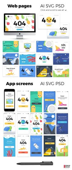 35 multicolor cartoon infographics powerpoint template error pages web mobile design by beauty drops on creativemarket toneelgroepblik Image collections