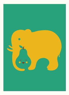 excellent use of negative space, and elephants