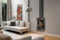 How modern Gas Fires should help reduce your energy bills Bungalow Haus Design, House Design, Wood Burner Stove, Living Room Decor Inspiration, Freestanding Fireplace, Fireplace Remodel, Fireplace Design, Home And Living, Living Rooms