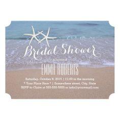 Beach bridal shower invitation under the sea invitation beach starfish beach theme bridal shower invitations filmwisefo