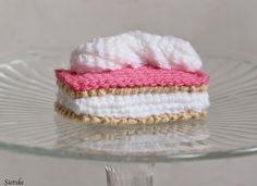 Sietske's Hobby's: Tompouce of Tompoes, #haken, gratis patroon, Nederlands, gebak, voedsel