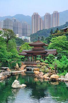 Hong Kong garden piękna kompozycja
