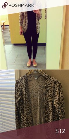 Leopard H&M cardigan Gently used leopard H&M cardigan in size small. Great condition! H&M Sweaters Cardigans