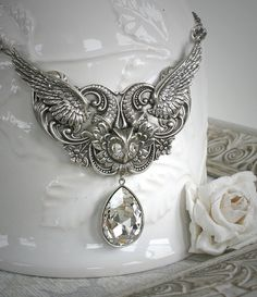 WINTER WINGS romantic vintage fantasy by TheVictorianGarden, $64.00
