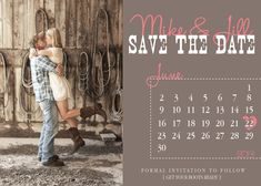 country save the dates | Country Calendar Save The Date Wedding Invitation, Printable, DIY
