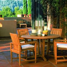 Kingsley Bate Elegant Outdoor Furniture Algarve dining armchair