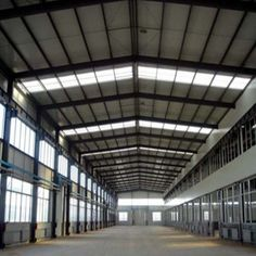 Prefabricated Industrial Steel Buildings For Agricultural And Farm Building Infrastructure Factory Architecture, Architecture Design, Warehouse Design, Warehouse Project, Roof Cladding, Industrial Sheds, Steel Building Homes, Steel Structure Buildings, Factory Design